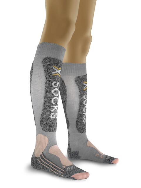 X-Bionic Skiing Light - Calcetines Mujer - gris